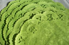 6 or 8 Hand Dyed Colored French Lace Paper by ThePaperDoily, $10.00