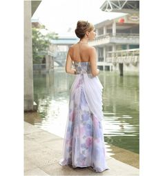 Unique Prom Dresses | Style Prom Dress Size 8 Colorful Blue Pink White Prom Dresses Formal ...