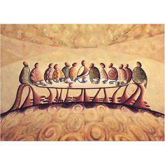 Last Supper by Okaybabs This piece is sitting in my dining room. 1st art piece I ever purchase.