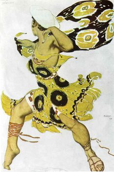 Narcisse a Youth, 1911  - by Leon Bakst for Ballet Russe http://www.wikipaintings.org/en/leon-bakst/narcisse-1911-1