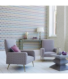 Shop for Fabric at Style Library: Toluca by Harlequin. A geometric design of small, white triangles which elegantly sit on a fashion-led background. Harlequin Wallpaper, Bold Wallpaper, Interior Wallpaper, Geometric Wallpaper, Harlequin Fabrics, Scandi Wallpaper, Trellis Wallpaper, Wallpaper Ideas, Hall Furniture
