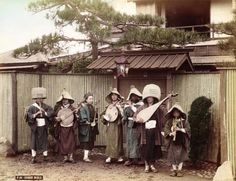 Chinese traveling band in Japan, ca. 1890