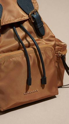 The easy, soft structure of this Burberry rucksack is influenced by  military archive styles from 50fc5b75fe