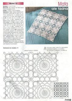 This Would Make A Beautiful Bi-Colored M - maallure Crochet Tablecloth Pattern, Crochet Motif Patterns, Granny Square Crochet Pattern, Crochet Squares, Knitting Patterns, Diy Crafts Crochet, Crochet Home, Irish Crochet, Thread Crochet