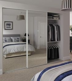 Mirror Door White Edge