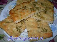 Focaccia al rosmarino con esubero lievito naturale o pasta madre