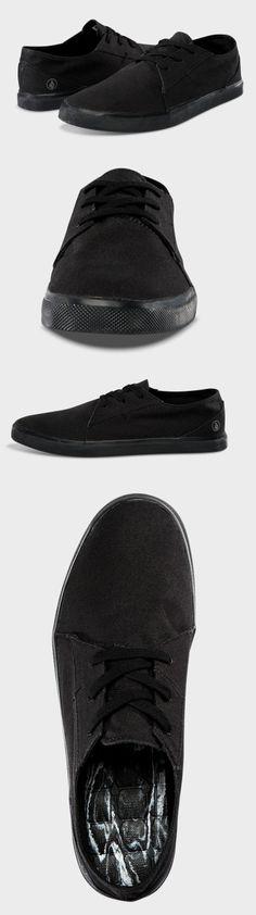 Volcom Lo Fi Shoes // Black on Black