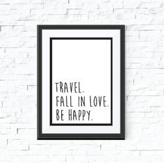 Travel Instant Download Love Happiness Black And White