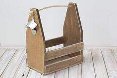 Drink Carrier   Wooden Beer Caddy   Six Pack Carrier от HopeFarmCo