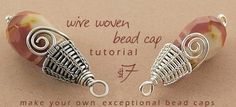 how to make bead caps. $7USD #Wire #Jewelry #Tutorials