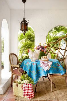 Breakfast nook shot for June 2018 issue of Country Living magazine. Outdoor Glider, Adirondack Furniture, Country Primitive, Primitive Decor, Country Living Magazine, Wood Worker, Florida Home, Country Decor, Country Life