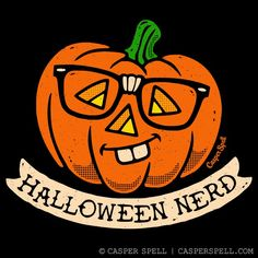 "Halloween Nerd by Casper Spell ●●●●● Have questions? Please contact our support team by clicking ""Help & Returns"" below or email us at shop. Halloween School Treats, Halloween Party Supplies, Halloween Home Decor, Halloween House, Cute Halloween, Vintage Halloween, Halloween Stuff, Halloween Ideas, Halloween Humor"