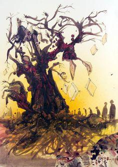 Ralph Steadman's Rare and Rapturous Illustrations for Ray Bradbury's Fahrenheit 451 | Brain Pickings