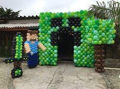 Resultado de imagem para decoração festa infantil minecraft