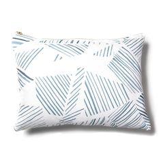 Mixed Stripe Blue-Slate Pillow
