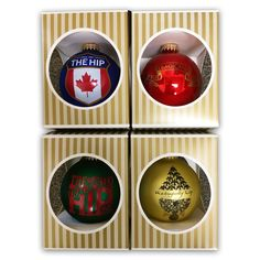 *wish list* The Hip Holiday Ornament Gift-Shop-Store Tragically Hip Lyrics, Holiday Ornaments, Christmas Gifts, Can Band, Hip Hip, Band Posters, Xmas Crafts, Jingle Bells, Wonderful Time