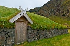 Viking House in Westmann Islands,Iceland