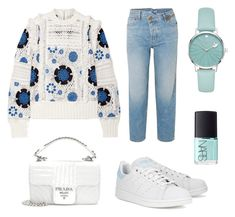 """Blue Mania"" by fru316 on Polyvore featuring Sea, New York, Monse, adidas Originals, Prada, NARS Cosmetics and Kate Spade"