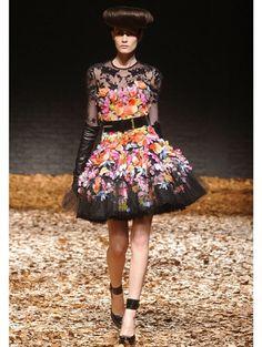 Beautiful McQ dress! London Fashion Week a/w 2012