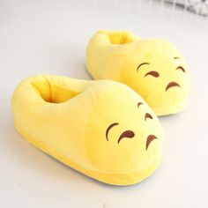 Kawaii Emoji Slippers For Men or Women Bunny Slippers, Winter Slippers, Cute Slippers, Sock Shoes, Cute Shoes, Me Too Shoes, Women's Shoes, Cute Pajamas, Pajamas Women