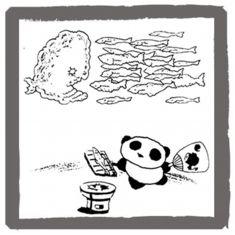 アンアン・ミニコミで連載していたパンダの絵   <byパンツ屋エディ>   1978年9月20日号掲載