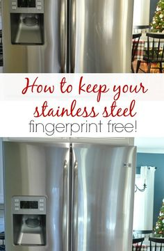 How to keep your stainless steel fingerprint free and super shiny!
