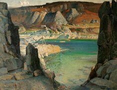 Morning Fills the Bowl (Lamorna Cove) - Samuel John Lamorna Birch, 1926.  Royal Cornwall Museum. © the artist's estate. Photo credit: Royal Institution of Cornwall