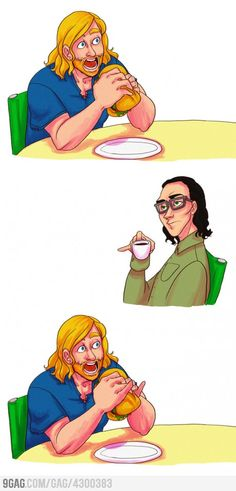 When in doubt, pinky out.  Thor and Loki style!
