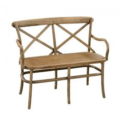Provincial Cross Back 2 Seater Bench
