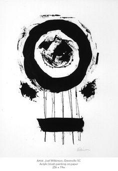 Artist: Joel Wilkinson. Untitled. Size: 25h x 19w. Acrylic brush on paper.