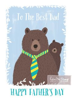 Father's Day Card - Best Dad Bear Card