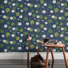Welcome to Sandberg Wallpaper. We are a Swedish design company specialising in designer wallpaper and home accessories. Visit our site to browse the full collection of Sandberg wallpapers and find your nearest stockist. Colorful Wallpaper, Wall Wallpaper, Swedish Design, Floral Wall, Designer Wallpaper, Victorian Homes, Home Accessories, Sweet Home, Dark Blue