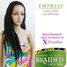 Sensationnel Empress Synthetic Braided Lace Front Edge Wig Senegal Locks