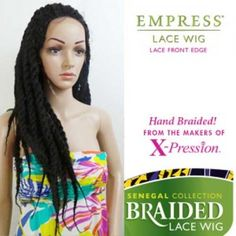 Sensationnel Empress Synthetic Braided Lace Front Edge Wig Senegal Locks