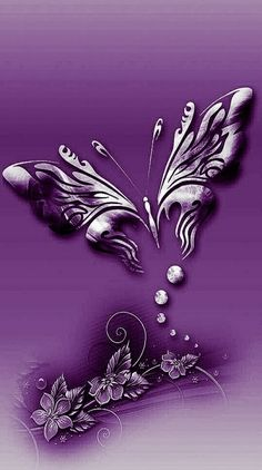 By Artist Unknown. Bling Wallpaper, Butterfly Wallpaper, Rose Wallpaper, Colorful Wallpaper, Butterfly Live, Purple Butterfly, 2 Clipart, Hearts And Roses, Glitter Hearts