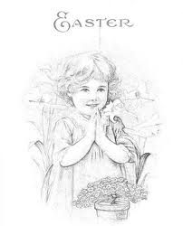 Vintage Easter Coloring Book | Free Coloring Pages | 250x202