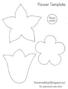 homemade by jill: Templates & Printables - flower and tulip