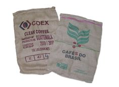 Used burlap coffee bags for less than $2/each?  I'm sensing the opportunity to make some pillows covers....
