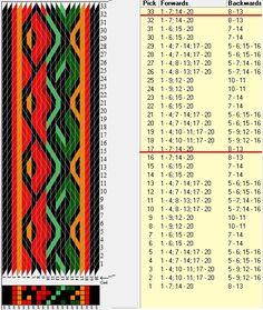 20 tarjetas, 6 colores, repite cada 16 movimientos // sed_901d diseñado en GTT༺❁