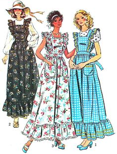 1970s Dress Pattern Simplicity 6218 Ruffled by paneenjerez on Etsy, $10.00