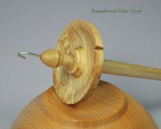 High Whorl Drop Spindle Spalted Maple & Elm by RoundwoodGallery, $38.00
