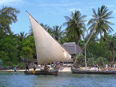 Dhow sailing in Lamu Island will give you one of the most wonderful experience in Kenya - http://www.destinationafrica.info/tourist-attractions-in-kenya/