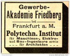 Original-Werbung/ Anzeige 1905 - GEWERBE - AKADEMIE - FRIEDBERG - ca. 45 x 40 mm