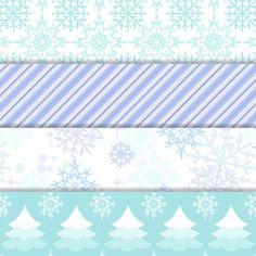 Winter Wonderland Digital Paper Snowflake by DigitalDollFace