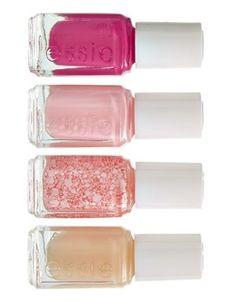 Pink mani   Essie 'Breast Cancer Awareness' mini four pack.