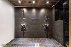 Grey and white tiles. White Tiles, Grey And White, Lightning, Bathtub, Bathroom, Glass, Standing Bath, Washroom, Bathtubs