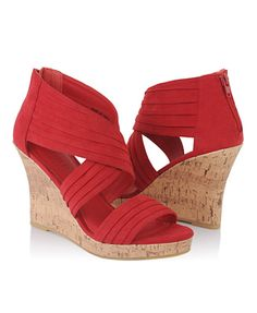 Tiered Wedge Sandals