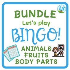 This is a bingo to print and play! It is great to teach and learn about animals in a fun way.You will receive 17 pages. Each page has 1 bingo card (3 x 3). You can print 4 per page, or as you prefer.The words included are:catdogbirgfishrabbitturtlesheeppigcowelephantgiraffezebrachickenhorsechickroos... English Worksheets For Kids, Bingo Cards, Teacher Favorite Things, Lets Play, Body Parts, Author, Science, Teaching, Let It Be