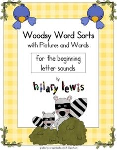 Word Sorts with Pictures-Beginning Letter Sounds UPDATED $5.99