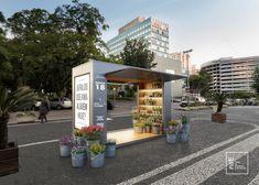Mobile Restaurant, Kiosk Design, Street Furniture, Autocad, Pavilion, Bungalow, Floor Plans, Retail, Construction